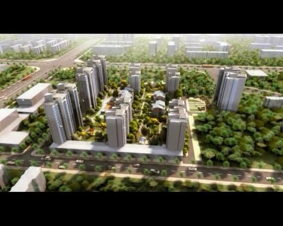 三维动画展示桐城中央优越的地理位置