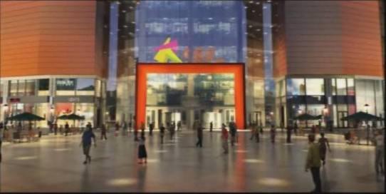 三维动画展示大悦公寓夜景