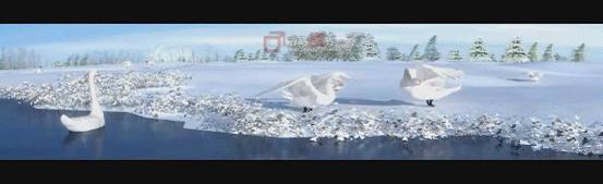 三维模拟雪场景