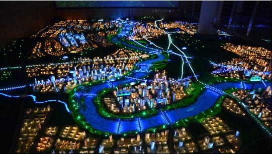 长沙市规划展示馆沙盘