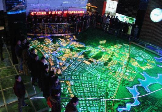 多媒体互动沙盘服务于咸宁城市规划