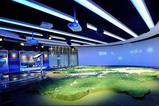 银川市规划展示馆数字沙盘应用图片