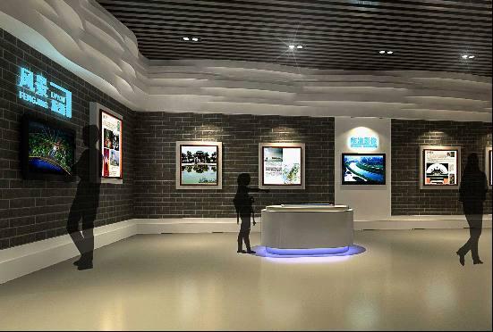临清市城市规划展览馆桌面互动投影展示