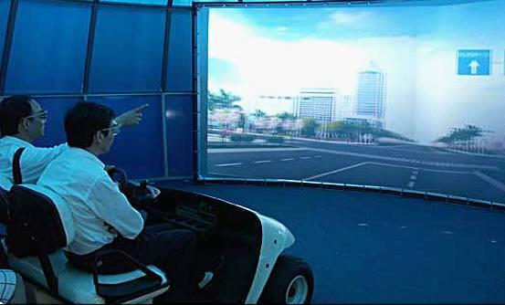 """杭州市规划虚拟驾驶展区""""明天的杭州"""""""