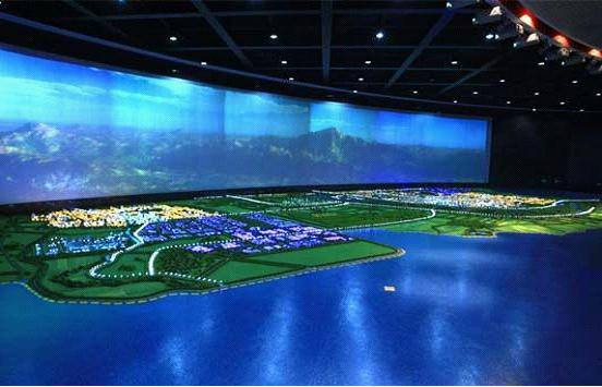 多媒体电子沙盘服务于湖南科技馆图片