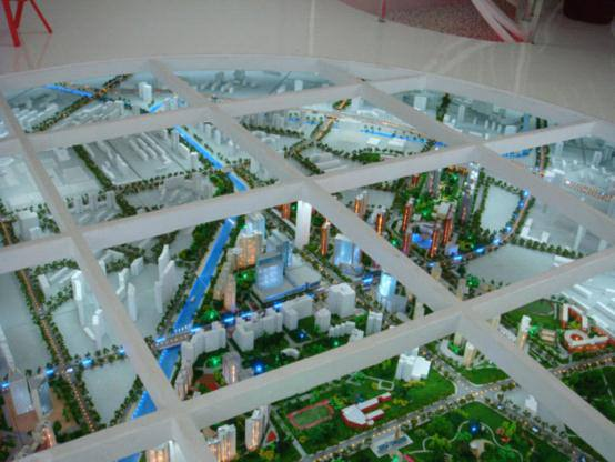 太阳星城地产动态沙盘整体图