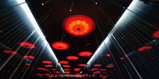 杭州伞博物馆水幕投影