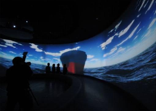 中国航海博物馆360度环幕投影