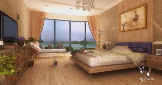 三维动画展示白鹭金滩卧室