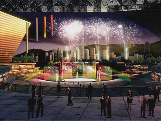 三维动画展示西九龙中心地带