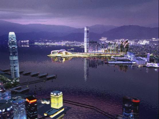 三维动画展示西九龙夜景