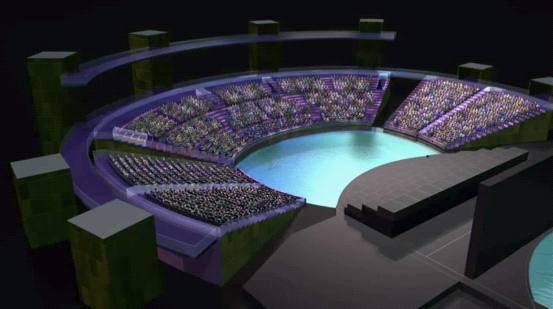三维动画来表现舞台的升降变换