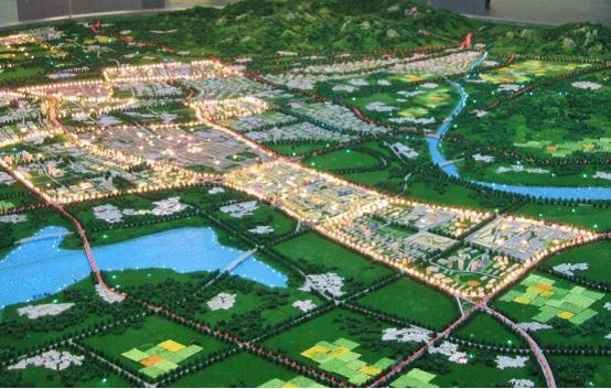 绿地房地产数字展厅中地产沙盘模型