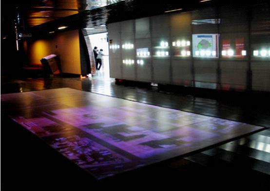 贵州科技展览馆互动地幕
