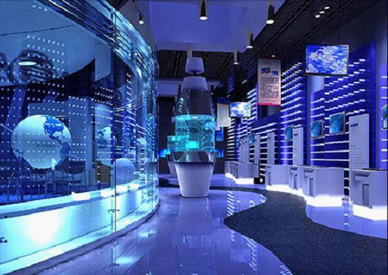 大立科技展厅互动球幕展区