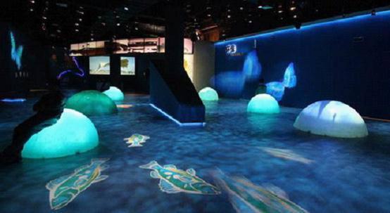 金城灯艺展厅全息投影展区