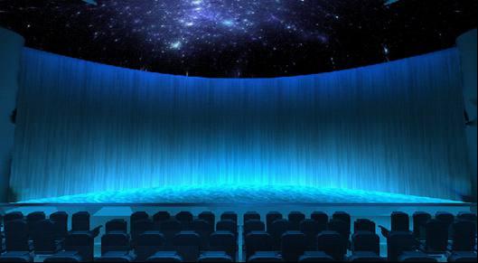 山东能源集团展厅120弧幕投影