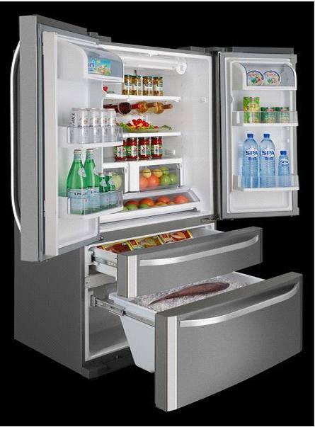海尔冰箱内部空间展示