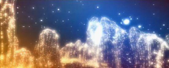 众星闪耀汇聚成峰(渲染合成)