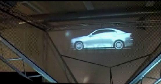 360全息投影下的奥迪A6L