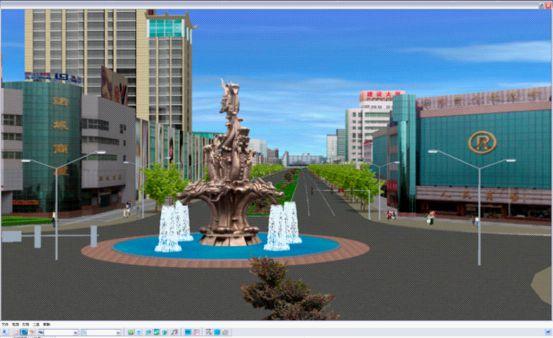 虚拟现实展示诸城新规划街景