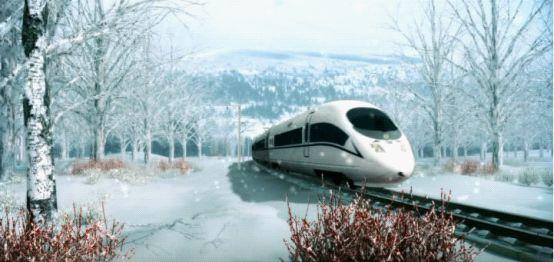 三维动画展示高速行使的和谐号