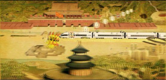后期动画技术展示列车运行
