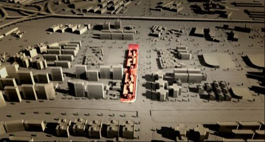 三维动画展示望京随便消费区
