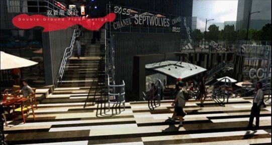 三维动画技术展示望京随便消费区外景