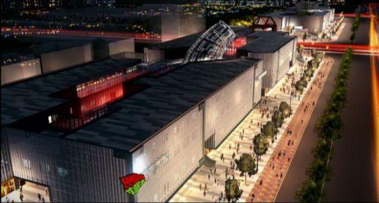 三维动画技术展示望京随便消费区夜景