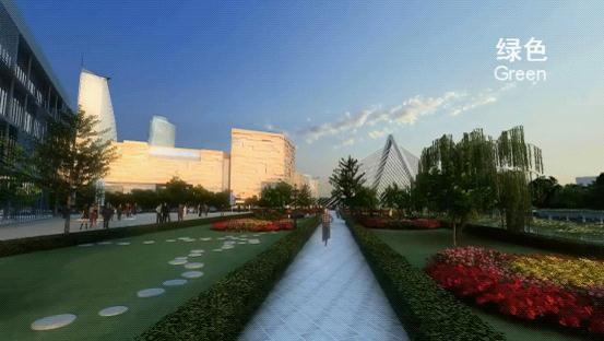 三维动画技术展示产业园内景