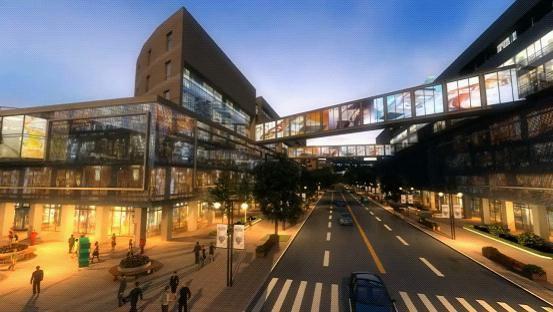 三维动画技术展示亦庄新城夜景