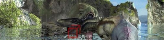 恐龙打斗的场面