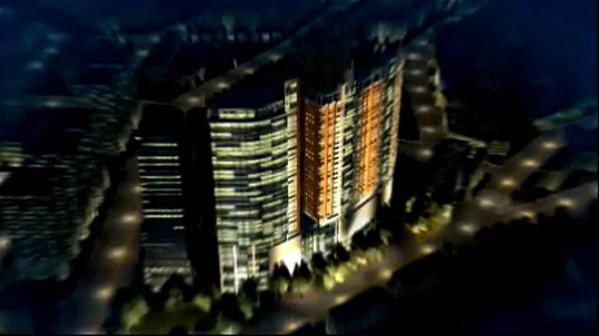 塞维利大厦三维动画远瞰图